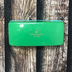 🎀3/$30 Kate Spade Green Blue Hard Glasses Case
